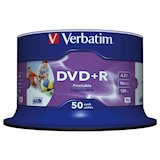 Носители информации VERBATIM DVD+R 4.7Gb 16x Cake 50 pcs Printable