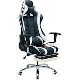 Кресло SPECIAL4YOU ExtremeRace black/white footrest (E4732)