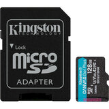 Карта памяти KINGSTON microSDXC 128Gb Canvas Go+Class 10 UHS-I U3 V30 + SD-adapter (SDCG3/128GB)
