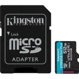 Карта памяти KINGSTON microSDXC 512Gb Canvas Go+ Class 10 UHS-I U3 V30 A2 + SD-adapter (SDCG3/512GB)