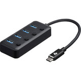 USB-хаб 2E Type-C to 4 x USB 3.0 Black (2E-W1406)